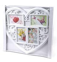 "Рамка пластмассовая ""Сердце"" на 4 фото (10х15 см; арт. 10989611)"