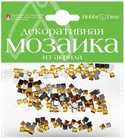 Мозаика декоративная из акрила №12 (4х4 мм; 200 шт.; темно-желтый)