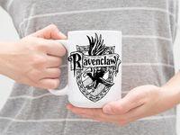 """Кружка большая белая """"Гарри Поттер. Когтевран"""" (арт. 098)"""