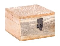 Шкатулка деревянная (100х100х68 мм; арт. A44310100)