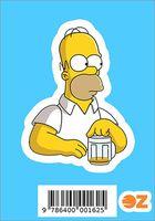 """Глянцевая наклейка """"Симпсоны. Гомер с пивом"""" (арт. 162)"""