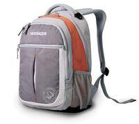 """Рюкзак WENGER """"MONTREUX"""" (26 литров, серый/оранжевый)"""