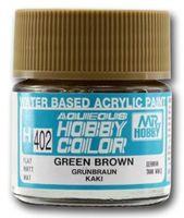Краска Aqueous Hobby Color водоразбавляемая (green brown, H-402)