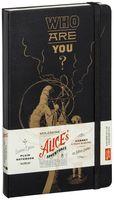 """Записная книжка Молескин """"Алиса в Стране Чудес"""" нелинованная (большая; твердая черная обложка)"""