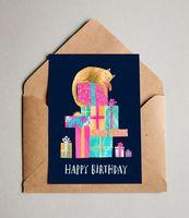 """Открытка """"Happy Birthday cat"""" (592)"""