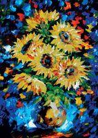"""Алмазная вышивка-мозаика """"Ночные подсолнухи"""" (530х750 мм)"""