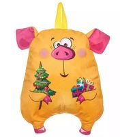 """Подарочная упаковка """"Новогодняя свинка"""" (жёлтая)"""