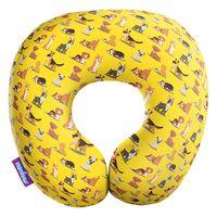 """Подушка под шею """"Собачий вальс"""" (29х29 см; жёлтая)"""