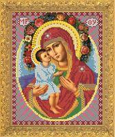 """Вышивка бисером """"Пресвятая Богородица. Жировицкая"""" (194х218 мм)"""