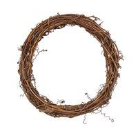 """Основа для венка """"Венок плетеный коричневый"""" (20 см)"""