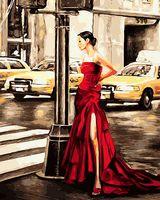 "Картина по номерам ""Девушка в красном"" (400х500 мм; арт. PC4050134)"