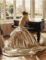 """Картина по номерам """"Девушка у рояля"""" (400х500 мм)"""