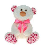 """Мягкая игрушка """"Медвежонок Ник белый"""" (34 см)"""