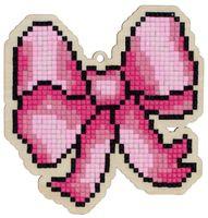 "Алмазная вышивка-мозаика ""Брелок. Розовый бант"" (103х108 мм)"