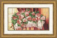 """Вышивка крестом """"Розы на столе"""""""