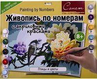 """Картина по номерам """"Птицы и цветы"""" (300х420 мм)"""