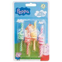 """Набор спиральных свечей для торта """"Peppa Pig"""" (4 шт.)"""