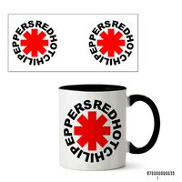 """Кружка """"Red Hot Chili Peppers"""" (арт. 035, черная)"""