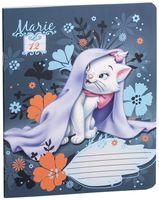 """Тетрадь в линейку """"Marie Cat"""" (12 листов; в ассортименте)"""