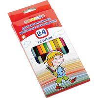 "Набор карандашей цветных ""Цветик"" (12 штук; 24 цвета)"
