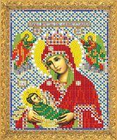 """Вышивка бисером """"Пресвятая Богородица Млекопитательница"""" (158х118 мм)"""