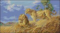 """Вышивка крестом """"Африканские львы"""" (арт. DMS-03866)"""