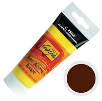 """Краска акриловая матовая """"Solo Goya Basic"""" 24 (100 мл; темно-коричневый)"""