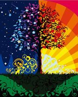 """Картина по номерам """"Дерево счастья"""" (400х500 мм)"""
