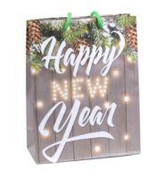 """Пакет бумажный подарочный """"Happy New Year"""" (18х23х8 см)"""