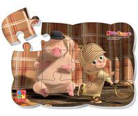 """Пазл магнитный """"Маша и Медведь"""" (12 элементов; арт. VT3205-49)"""