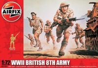 """Набор миниатюр """"8 армия пехота Великобритании"""" (масштаб: 1/72)"""