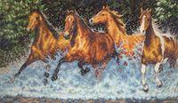 """Вышивка крестом """"Бегущие лошади"""" (арт. DMS-35214)"""