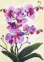 """Канва с нанесенным рисунком """"Орхидеи"""" (арт. 1317)"""