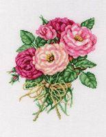 """Вышивка крестом """"Букетик роз"""""""