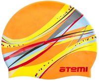 Шапочка для плавания (оранжевая; графика; арт. PSC419)