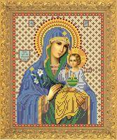 """Вышивка бисером """"Пресвятая Богородица. Неувядаемый цвет"""" (217х172 мм)"""
