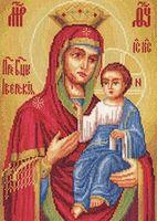 """Вышивка крестом """"Божья Матерь Иверская"""""""