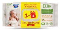 "Влажные салфетки детские ""Eco. Atopic"" (40 шт.+40 шт.)"