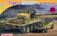 "Набор миниатюр ""Sd.Kfz.181 Tiger I Mid Production w/Zimmerit & Kubelwagen"" (масштаб: 1/72)"