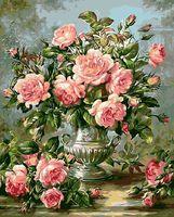 """Картина по номерам """"Букет розовых роз"""" (500х650 мм)"""