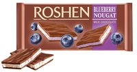 """Шоколад молочный """"Roshen"""" (90 г; черничная нуга)"""