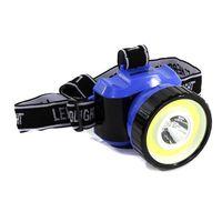 Фонарь налобный Smartbuy 1 Вт LED+3 ВТ COB (чёрно-синий)