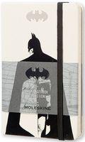 """Записная книжка Молескин """"Бэтмен"""" в линейку (карманная; твердая белая обложка)"""