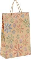 """Пакет бумажный подарочный """"Цветы в горошек"""" (24х33х8 см; арт. 43735)"""