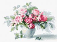 """Вышивка крестом """"Этюд с чайными розами"""" (355х260 мм)"""