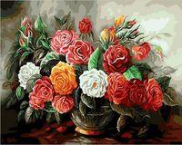 """Картина по номерам """"Роскошный букет из роз"""" (400х500 мм)"""