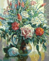 "Картина по номерам ""Натюрморт с белой розой"" (400х500 мм)"