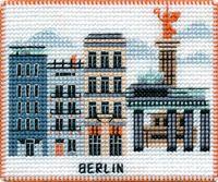 "Вышивка крестом ""Берлин"" (90х70 мм; на магните)"