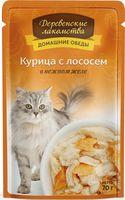 """Пресервы для кошек """"Домашние обеды"""" (70 г; курица с лососем)"""
