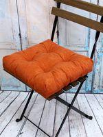"""Подушка на стул """"Velours"""" (40х40 см; оранжевая)"""
